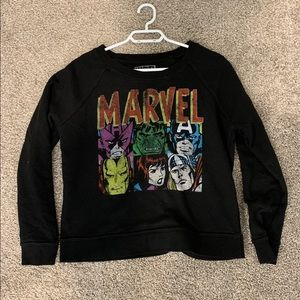 marvel black long sleeve sweater